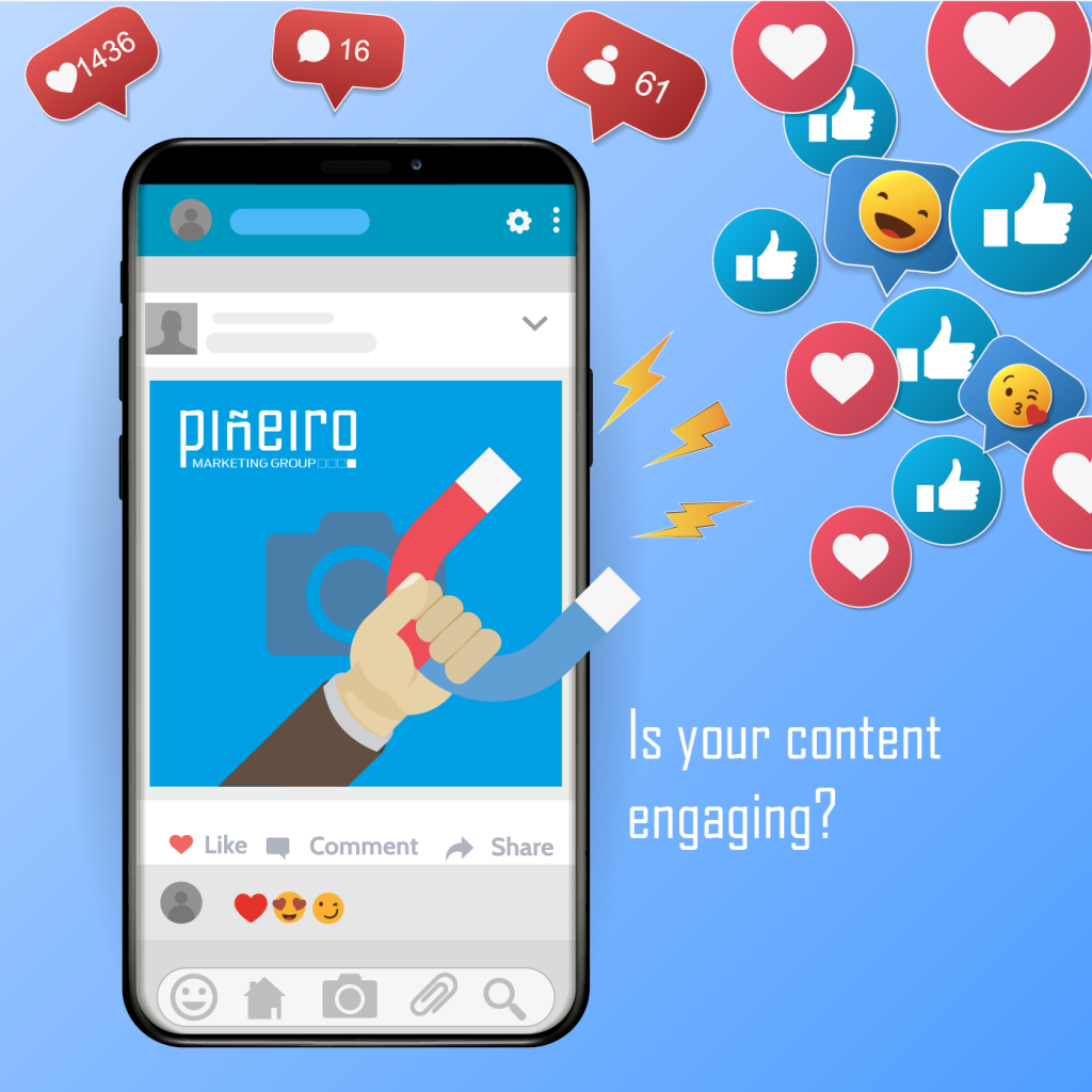 Facebook Engaging Content with Pineiro Marketing Group