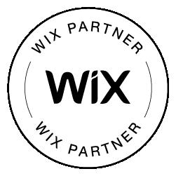 Wix Partner Badge Blk